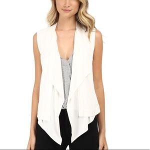 NWT BCBG MAXAZRIA M off white Ryland jersey vest